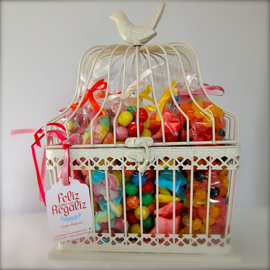 Jaulas Para Decoracion Baratas ~ Jaulita rellena de caramelos para regalar, ? para decorar