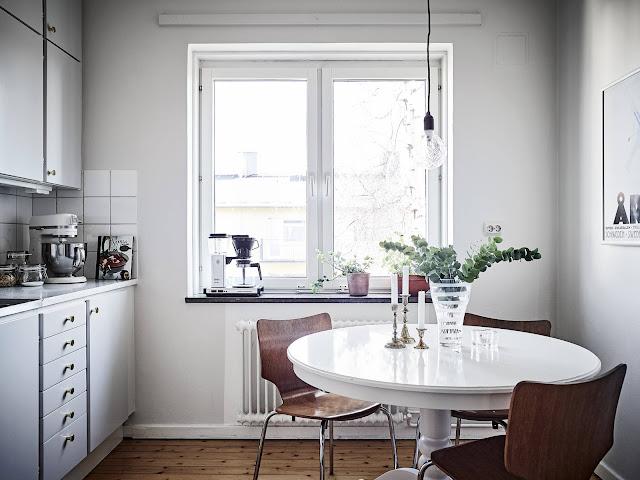 jadalnia IKEA, skandynawska kuchnia