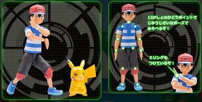 Ash Z-Move Action figure & Pikachu metallic version Tomy Monster Collection MONCOLLE series