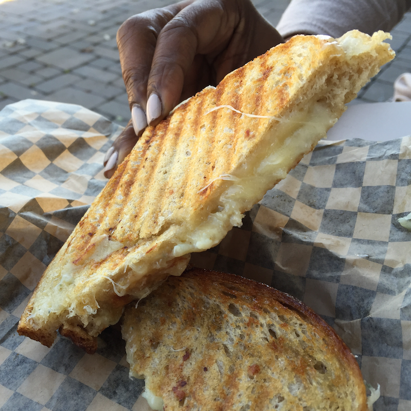 Gourmet grilled cheese sandwich at Rogue Creamery in Central Point, Oregon