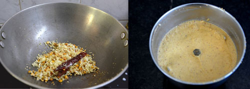 ground masala paste for kootu
