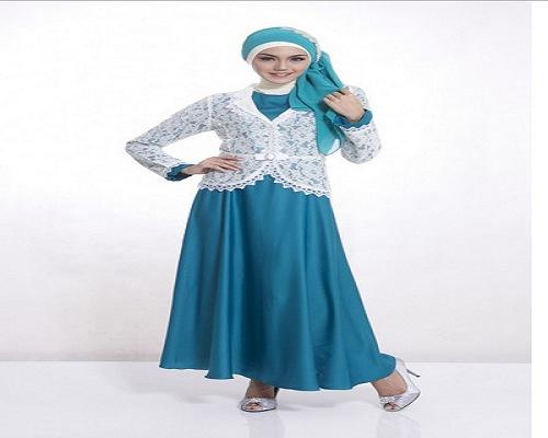 Model ibajui ibrokati terbaru muslim terusan kombinasi batik