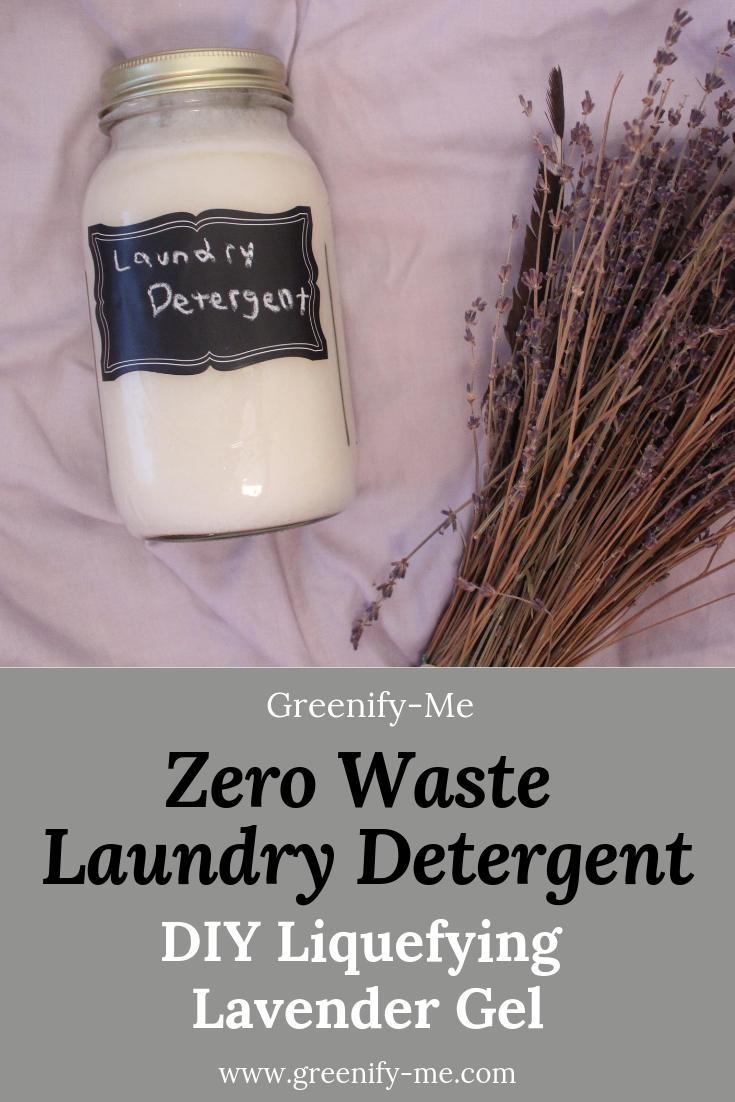 Zero Waste Laundry Detergent Diy Liquefying Lavender Gel