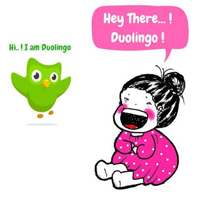 belajar duolingo dengan bujo