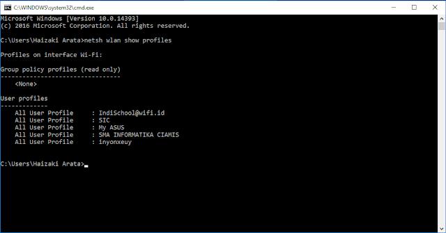 Cara Mengetahui Password Wifi dengan CMD di Semua Windows