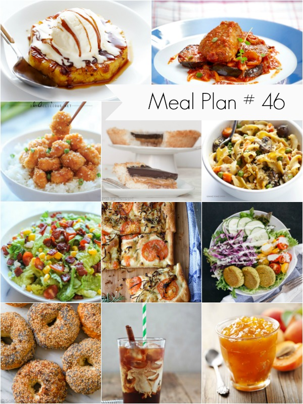 Recipe ideas for meal planning
