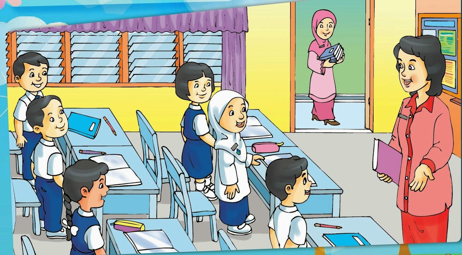 Mirzan Blog S 20 Koleski Terbaru Gambar Kartun Guru Sedang Mengajar Di Kelas Murid Datang Terlambat