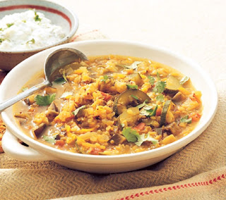 Red Lentil and Vegetable Dal Recipe