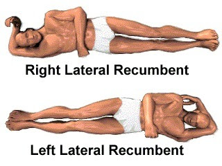 Recumbent position, Dorsal, Lateral, Semi-recumbent position