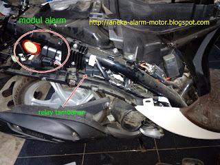 Cara pasang alarm motor pada Yamaha New Fino Fi