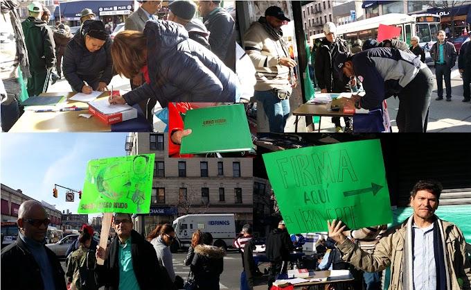 Cientos firman el Libro Verde contra la impunidad y la corrupción durante jornada en el Alto Manhattan