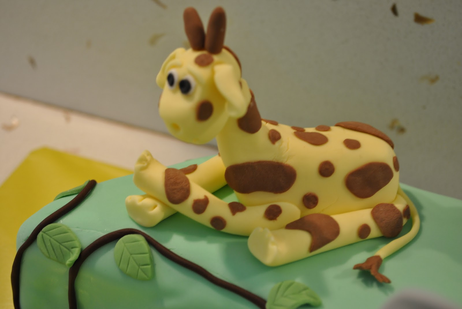 Covering Cake With Chocolate Modeling