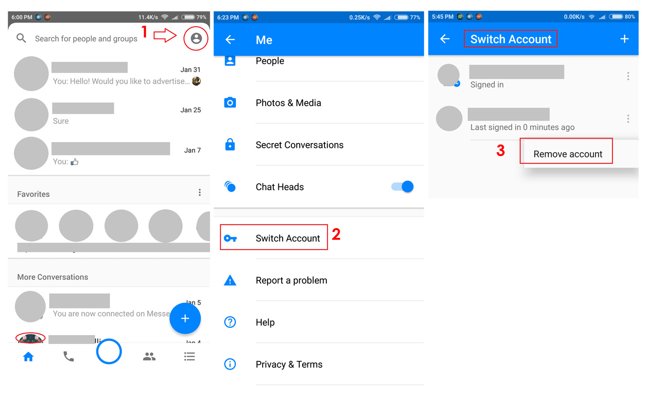 Update: How to add multiple account, switch account and remove