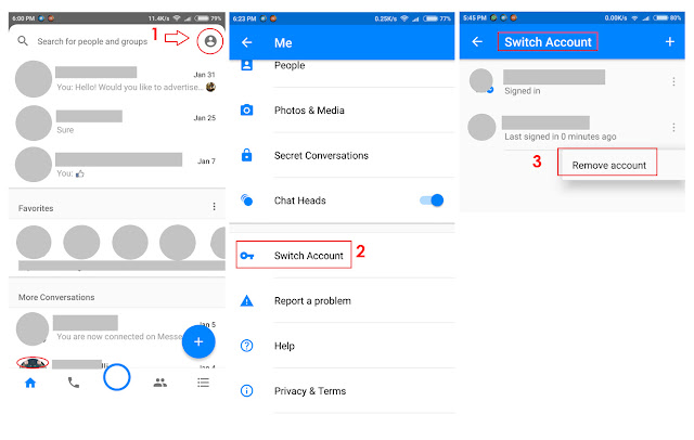 switch-account-remove-account-add-account-facebook-messenger-app