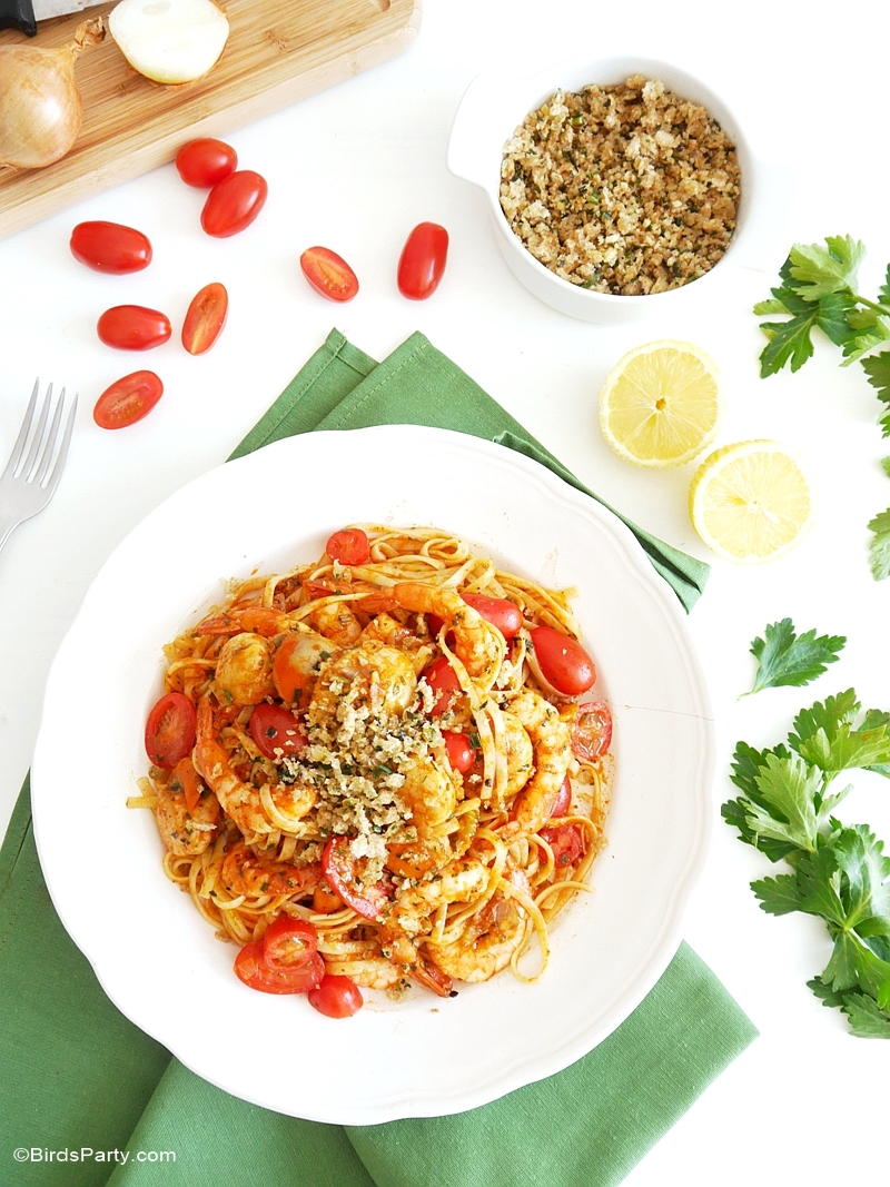 Recette: Linguine Bloody Mary aux Fruits de Mer - BirdsParty.fr