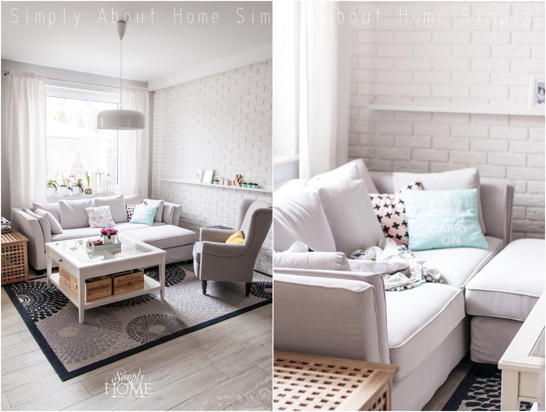Simply About Home Stylowy Salon Czyli Premiera Nowej Sofy