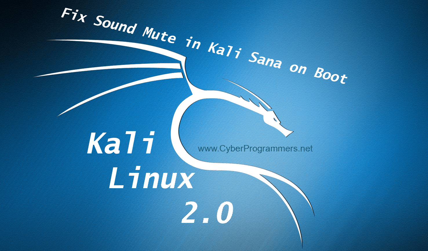 How to Fix Sound/Audio Driver Mute in Kali Linux 2/Kali Sana