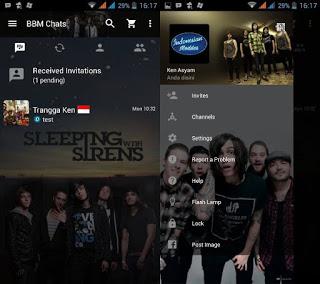 BBM Mod Sleeping With Sirens v2.11.0.18 Apk