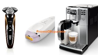 Logo Buono spesa da 50 euro Philips S.Martino: risparmia su rasoi, epilatori e macchine espresso