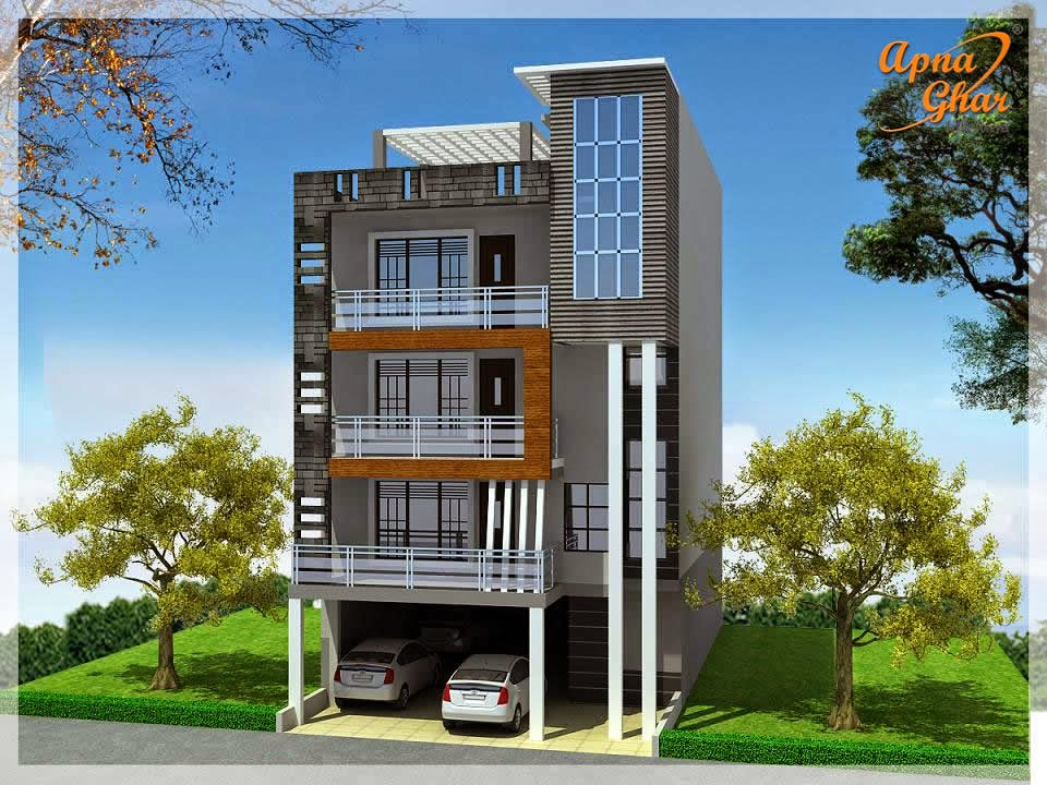 What is stilt floor level in a building iamcivilengineer for House elevation for three floors building