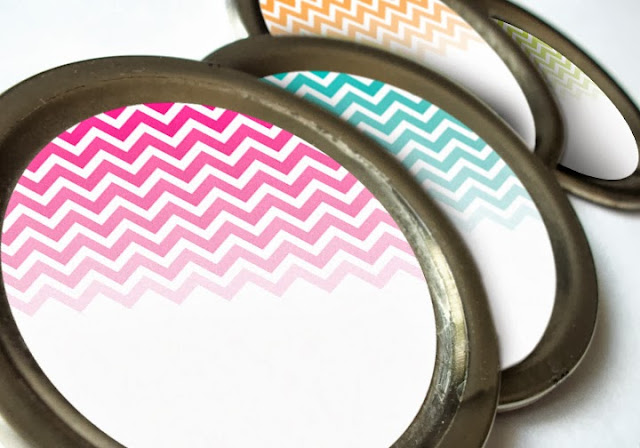 chevron canning jar labels