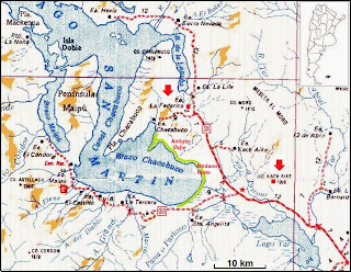 map of lake San Martin