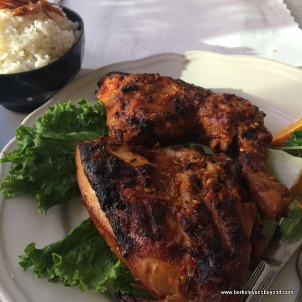 ayam bakar cabe (spicy barbecued chicken) at Borobudur Indonesian restaurant in San Francisco