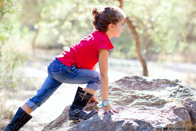 Use these sensory diet activities outdoors to help kids with sensory processing needs