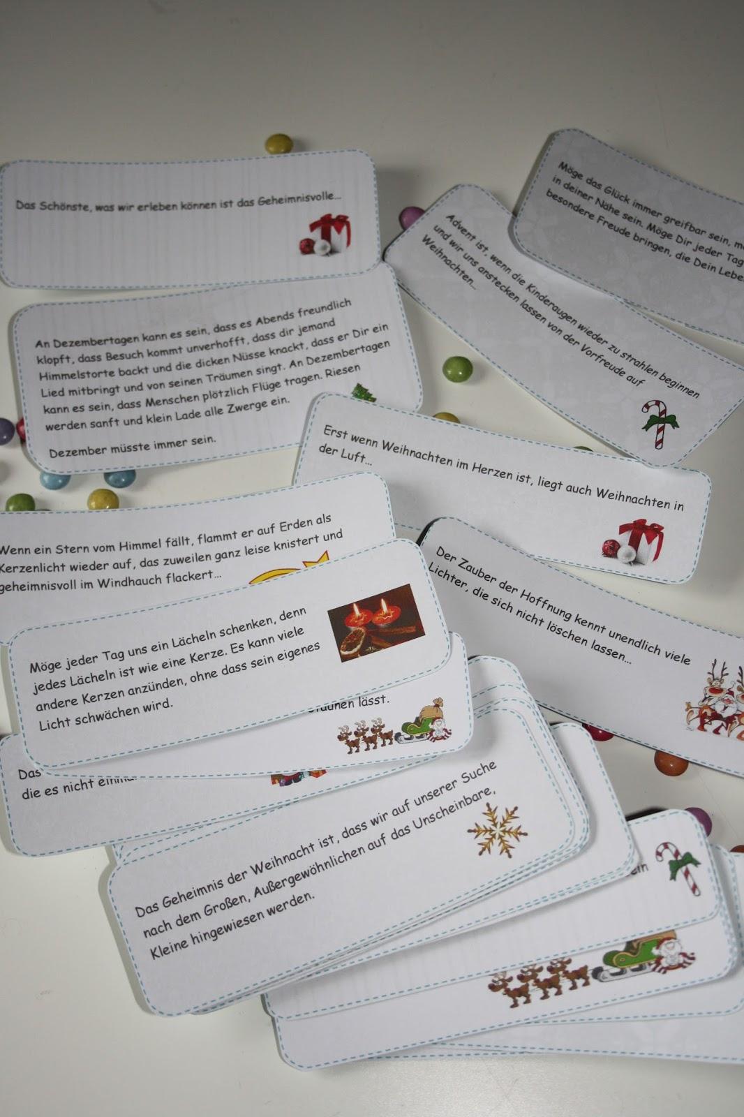 adventskalender sprüche für jeden tag klärchensstempelmärchen: Adventskalender 5,6 und 7 adventskalender sprüche für jeden tag