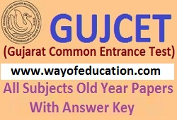 Chemistry Old Year Papers For GUJCET Exam (Gujarati Medium)