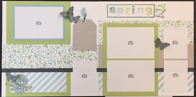 """Spring"" layout featuring Chelsea Gardens #ctmhchelseagardens - ScrapmomsCraftroom.blogspot.com"