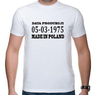 koszulka z datą produkcji Made in Poland