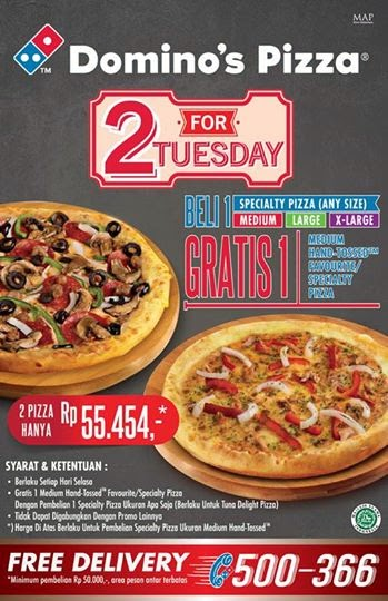 Jadwal Dan Info Event Jakarta Promo 2 For Tuesday Domino S Pizza