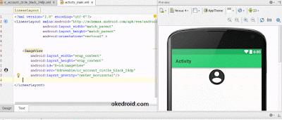 Penggunaan file Vector Android Studio