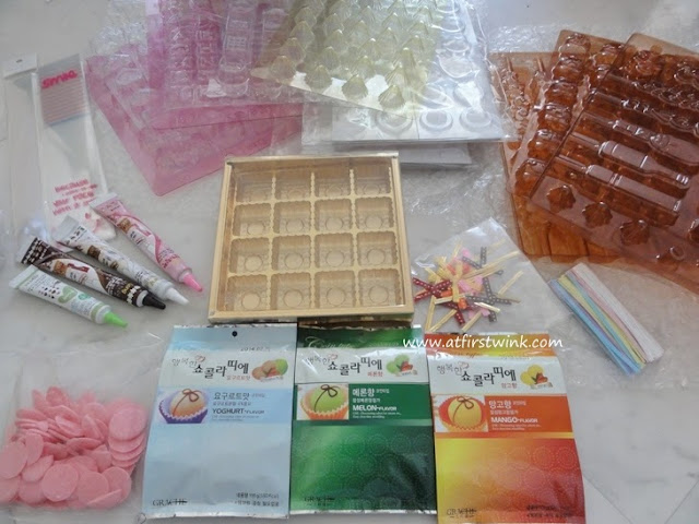 chocolate making supplies bought at Gmarket
