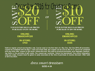 Dress Barn coupons december