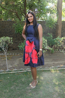 Actress Lakshmi Priya Chandramouli Pictures in Floral Short Dress at Kalam Movie Trailer Launch  0010
