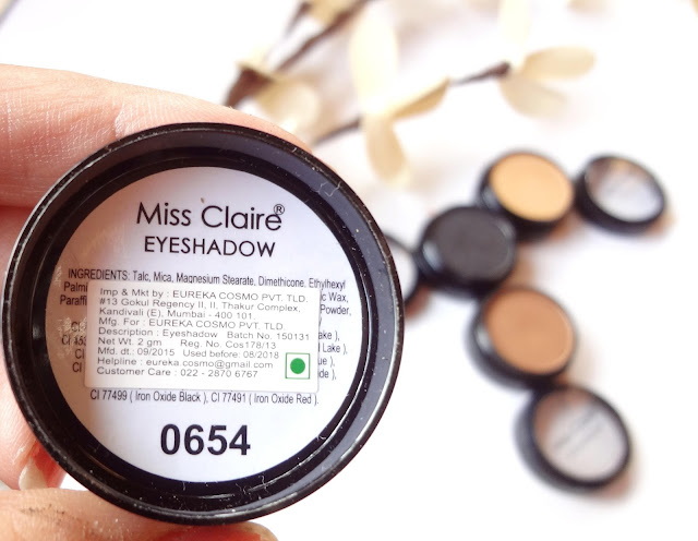 Miss Claire eyeshadows