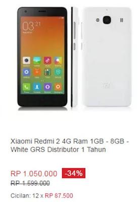 Xiaomi Redmi 2 4G Ram 1GB-8GB