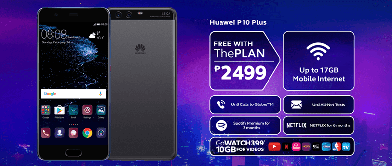Huawei P10 Plus Is Now FREE At Plan 2499