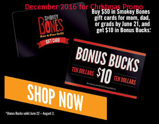 Smokey Bones coupons december 2016