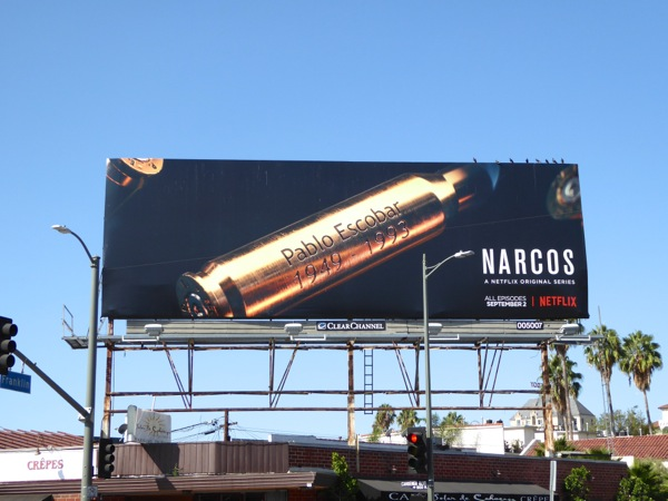 Narcos season 2 Netflix billboard
