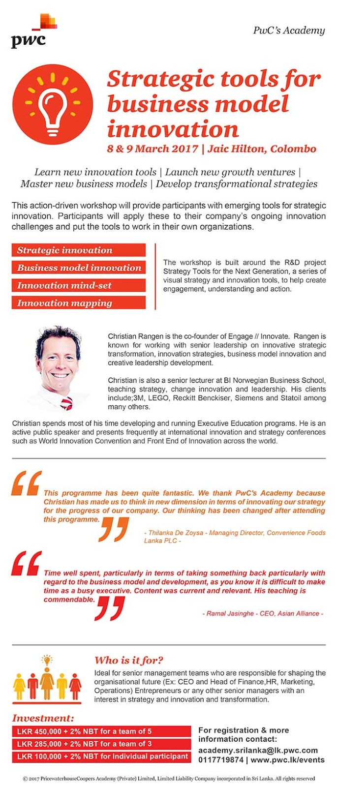 PWC Academy | Strategic Tools for Business Model Innovation.