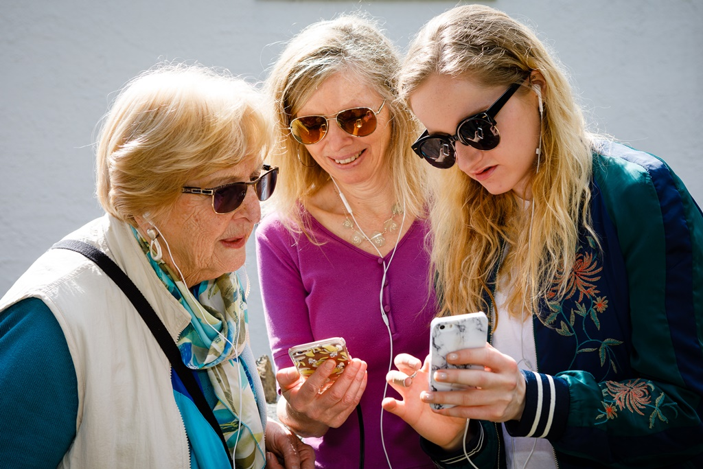 Three generations of women bond together with new walking app.