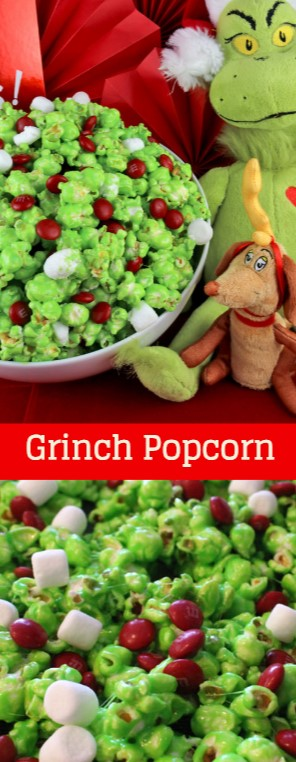 Grinch Popcorn #christmas #snack