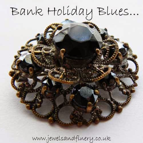 blue rhinestone brooch on our jewellery quote