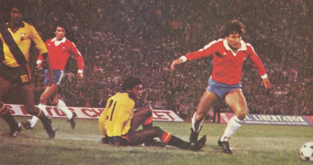 Chile y Ecuador en Clasificatorias a España 1982, 14 de junio de 1981