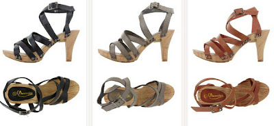 Sandalias de tacón con tiras y tacón medio