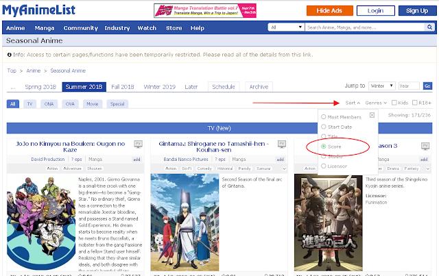 Begini Cara Mencari Anime yang Seru untuk Ditonton
