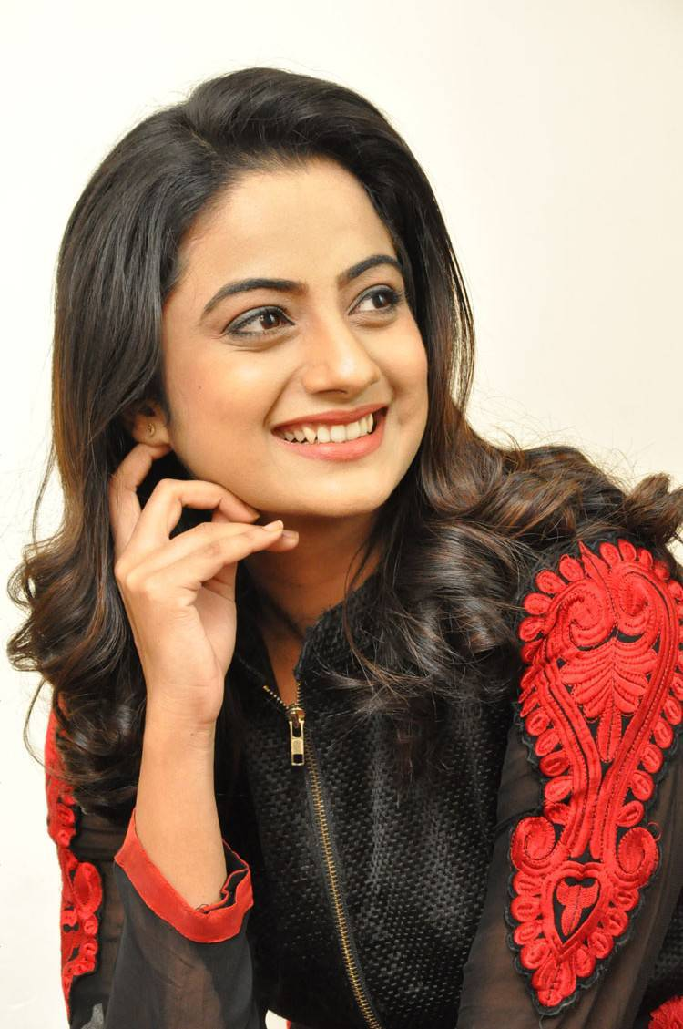 Malayalam Actress Namitha Pramod Hot In Black Dress At Movie Success Meet